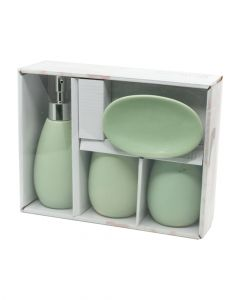 Homesmiths Bathroom Set of 4 Pieces Assorted 1 Pack