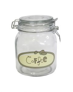 Orchid Square Glass Canister Coffee 1L