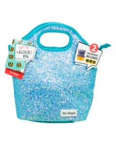 Fit & Fresh Sloane Chucky Glitter Bag B Kit Includes 2 Snack Containers