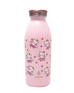 Core Manna 12 Oz Modern Stainless Steel Water Bottle Cat Print