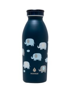 Core Manna 12 Oz Modern Stainless Steel Bottle Elephant Print