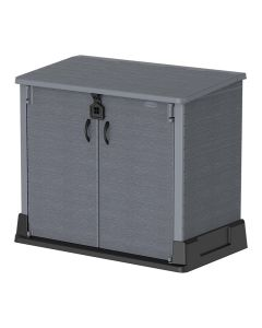 Cosmoplast Flat Packed Storage Shed 850L Grey