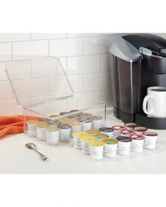 Interdesign Linus Coffee Pod Stackable 2 Tier Box With Lid Clear