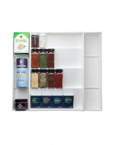 Dial 02507 Spice Rack Expand A Drawer White