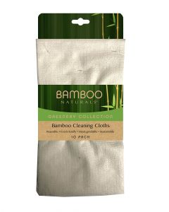 Evriholder Bamboo Naturals Greenery Bng Eco Bamboo Cloth 10 Piece Pack