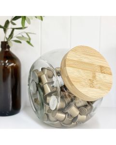 Little Stoarge Bamboo Glass Snack Jar