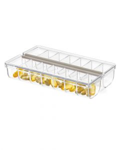 The Home Edit Pill Organizer with Labels 3.75 x 6.5 x 1.5 inch Clear