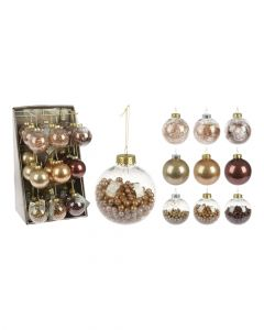 Homesmiths 80mm Xmas Ball Amber Assorted 1 Piece