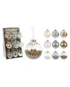 Homesmiths 80mm Xmas Ball Assorted 1 Piece