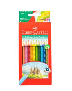 Faber Castell Grip Colour Pencils Cardboard pack of 12.