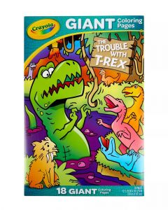 Crayola Giant Coloring Pages T-Rex Troubles