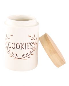 Orchid Ceramic Cookies Canister