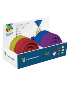 Colourworks Brights Silicone Collapsible Funnels Assorted 1 Piece