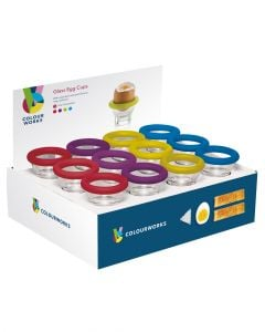 Colourworks Brights Glass Egg Cups Assorted 1 Piece