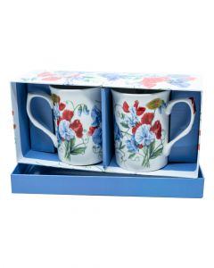 Lesser & Pavey Sweet Pea Mugs Set of 2