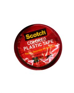 "Scotch 3/4x125"" Red Plastic Tape"