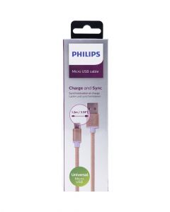 Philips Micro USB Cable 1.2M DLC2518G