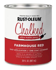 Rust-Oleum Ultra Matte Interior Chalked Paint Farmhouse Red