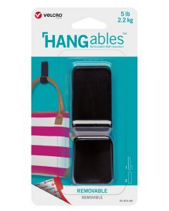 VELCRO HANGables Large Removable Wall Hook 1 Count Black