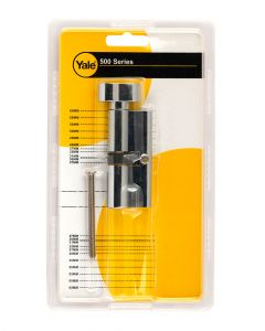 Yale 500 Series Double Euro Profile Cylinder 35+35 Key Plus Coin Polished Brass CH1453