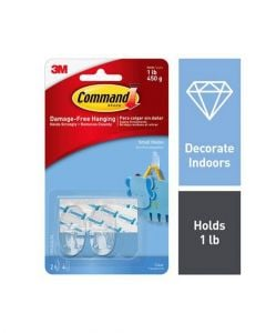 Command Clear 2 Piece Small Hooks