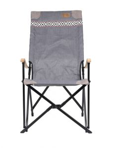 Bo-Camp Camp Chair With Wooden Armrest