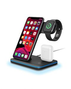 Trands 3 in 1 Wireless Desk Charger Black