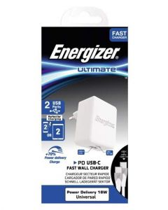 Energizer Wall Charger 30W1USB-C 1US UK plus USB-C 2 Cable